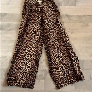 leopard culottes worn once